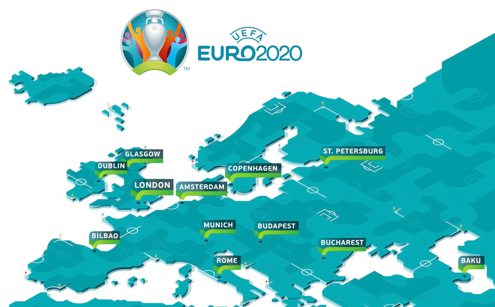 the map of Euro 2020